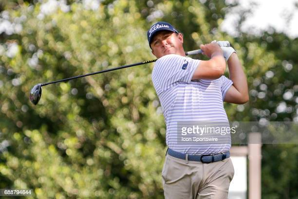 Jason Dufner plays his shot from the ninth tee during the second round of the Dean Deluca Invitational on May 26 2017 at Colonial Country Club in...