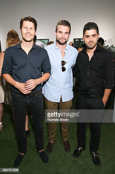 Jason Dundas Alex Russell and Beejan Land attend the MUSE Exhibition At De Re Gallery on September 18 2014 in Los Angeles California
