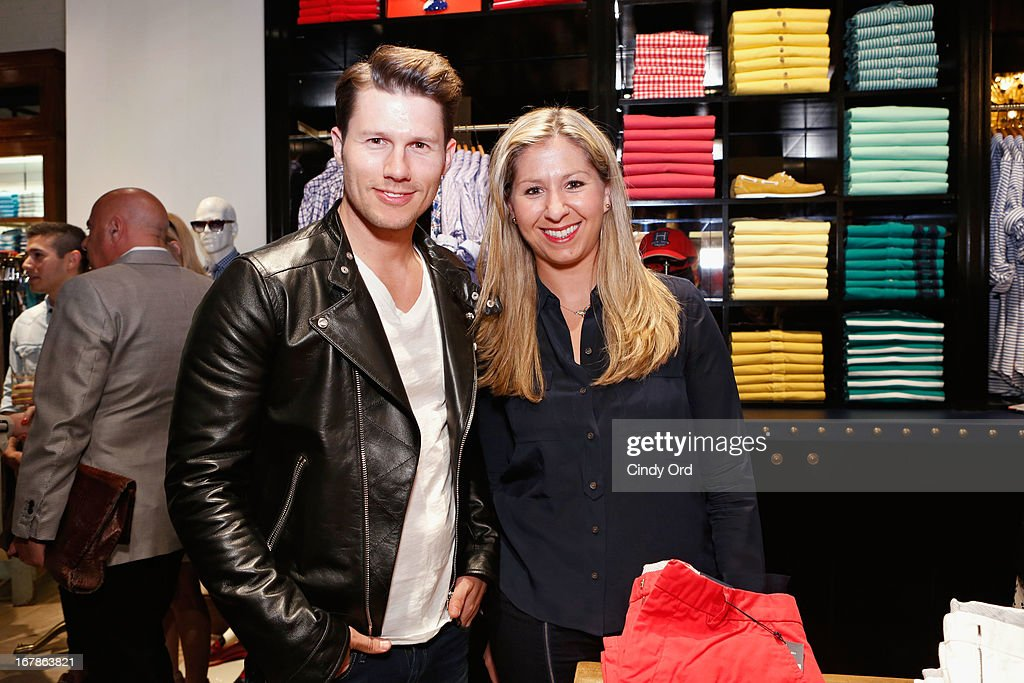 <a gi-track='captionPersonalityLinkClicked' href=/galleries/search?phrase=Jason+Dundas&family=editorial&specificpeople=578396 ng-click='$event.stopPropagation()'>Jason Dundas</a> and Emily Sigman attend Tommy Hilfiger celebrates redesigned Soho store with event for Fresh Air Fund on May 1, 2013 in New York City.