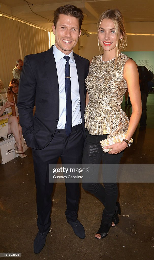 Jason Dundas and Jessica Hart attends NYFW S/S 2013: 'PIJU' Collection Launch at New York Fashion Palette at Dream Downtown on September 5, 2012 in New York City.