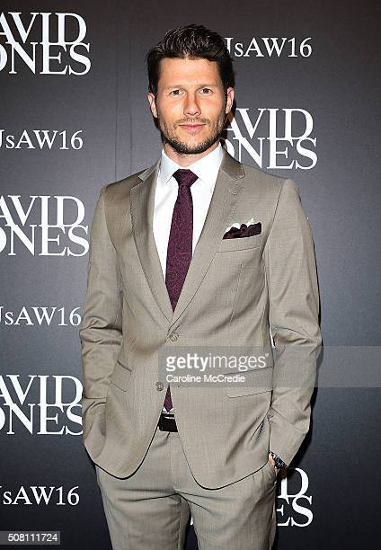 Jason Dundas arrives ahead of the David Jones Autumn/Winter 2016 Fashion Launch at David Jones Elizabeth Street Store on February 3 2016 in Sydney...