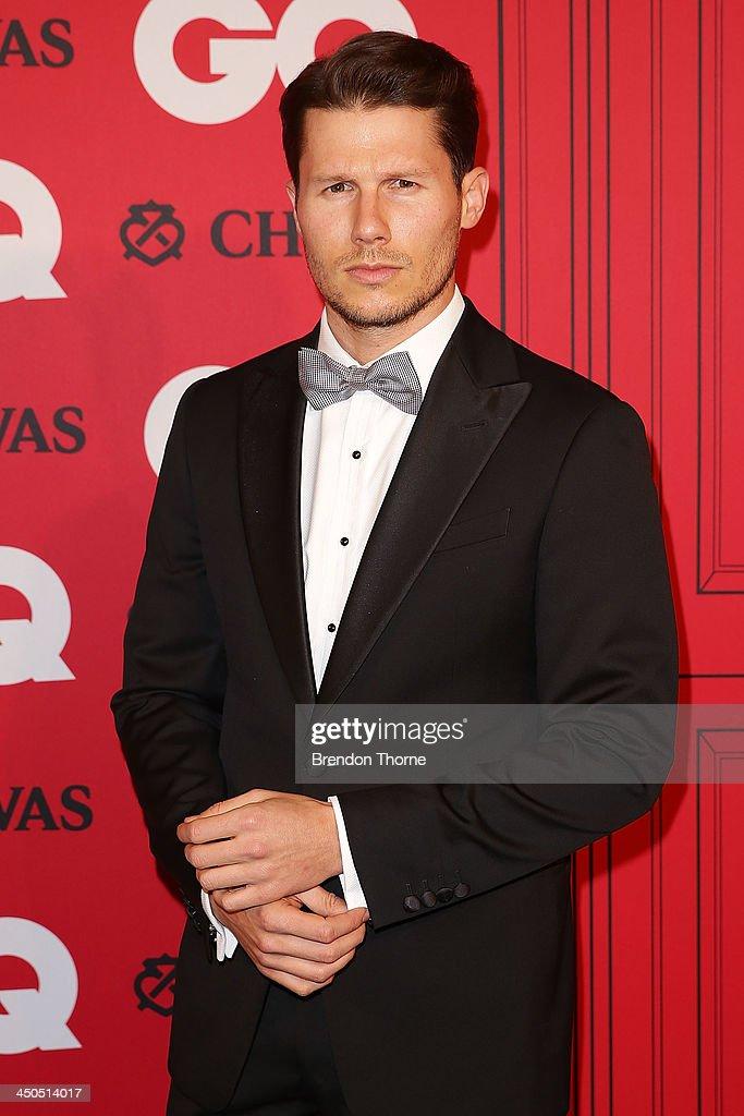 Jason Dundas arrives at the GQ Men of the Year awards at the Ivy Ballroom on November 19, 2013 in Sydney, Australia.