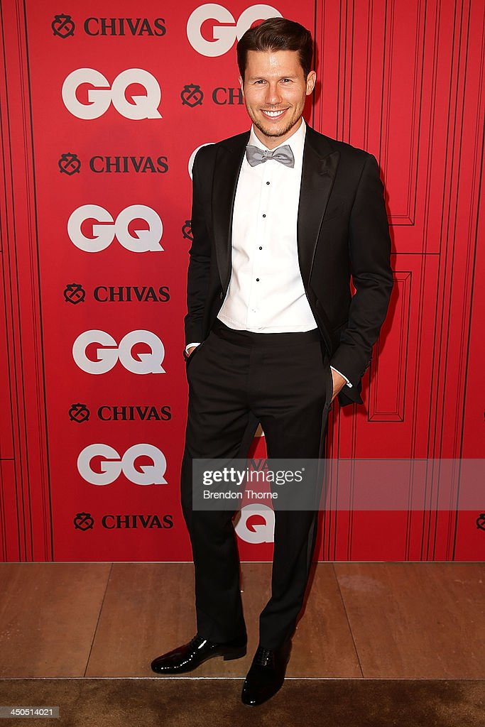 Jason Dundas arrives at the GQ Men of the Year awards at the Ivy Ballroom on November 19, 2013 in Sydney, Australia.