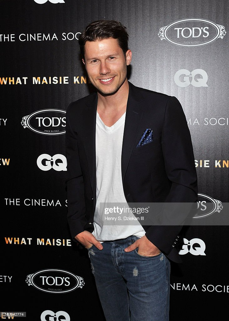 <a gi-track='captionPersonalityLinkClicked' href=/galleries/search?phrase=Jason+Dundas&family=editorial&specificpeople=578396 ng-click='$event.stopPropagation()'>Jason Dundas</a> attends The Cinema Society with Tod's & GQ screening of Millennium Entertainment's 'What Maisie Knew' at Sunshine Landmark on May 2, 2013 in New York City.