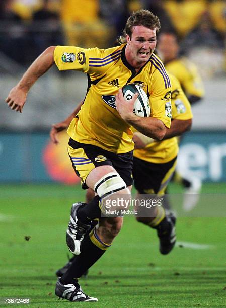 Jason Eaton of the Hurricanes in action during the round 11 Super 14 match between the Hurricanes and the Cheetahs at Westpac Stadium April 13 2007...
