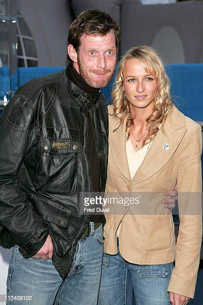 Jason Flemyng and guest during 'Ice Space' Launch Party Outside Arrivals at Tower Bridge in London Great Britain