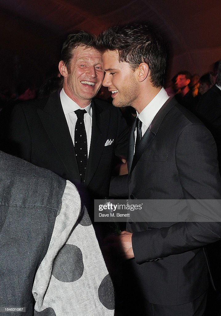 Jason Flemyng (L) and Jeremy Irvine attend an after party following the Gala Premiere of 'Great Expectations' which closes the 56th BFI London Film Festival at Battersea Power station on October 21, 2012 in London, England.