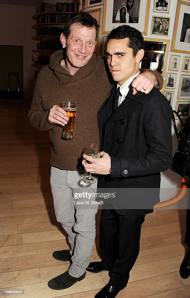 Jason Flemyng (L) and Max Minghella attend an after party celebrating the Red Carpet Premiere of the Netflix original series 'House of Cards' at Asia de Cuba, St Martins Lane Hotel, on January 17, 2013 in London, England.