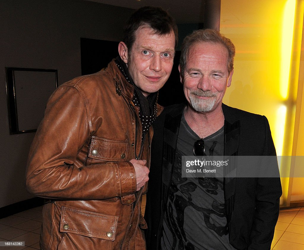 Jason Flemyng (L) and Peter Mullan attend the UK Premiere of 'Welcome To The Punch' at the Vue West End on March 5, 2013 in London, England.