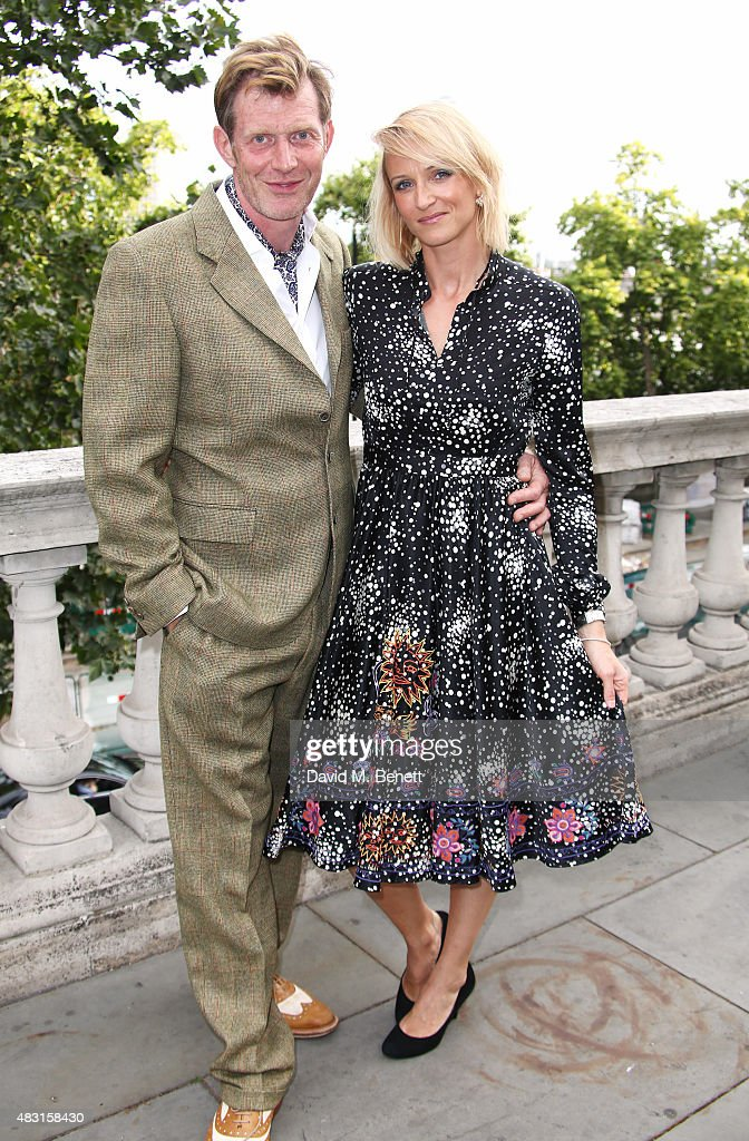 Jason Flemyng and wife Elly Flemyng attend a UK Premiere of 'Gemma Bovery' at Somerset House on August 6 2015 in London England