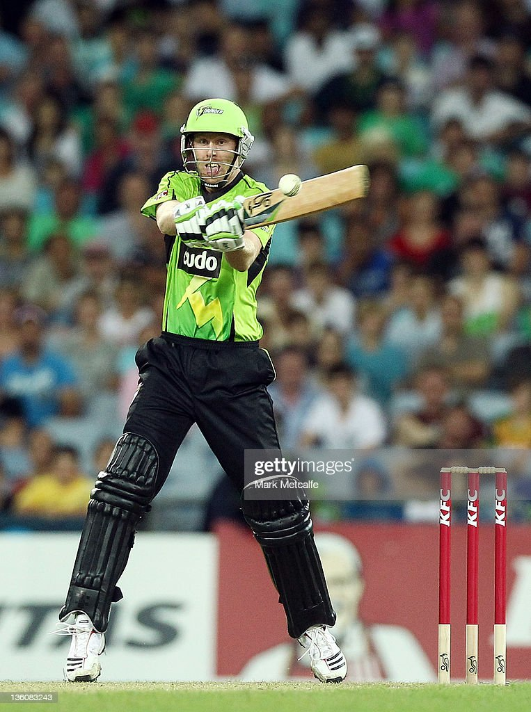 Jason Floros of the Thunder bats during the T20 Big Bash League match between the Sydney Thunder and the Adelaide Strikers at ANZ Stadium on December 23, 2011 in Sydney, Australia.