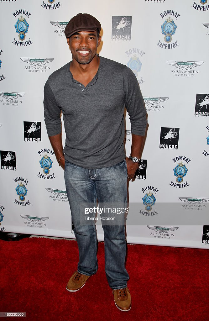 Jason George attends the VIP opening reception for 'Dis-Ease', an evening of fine art with Billy Morrison at Mouche Gallery on September 2, 2015 in Beverly Hills, California.