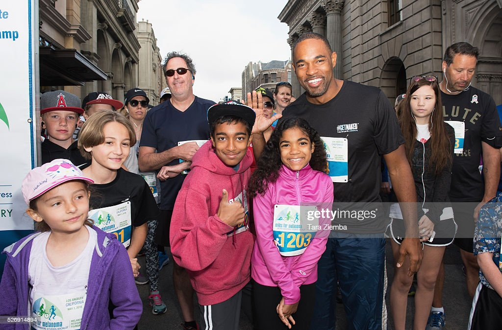 Jason George poses for a photo at the Melanoma Research Foundation's Miles for Melanoma 5k Run/Walk at Universal Studios Backlot on May 1, 2016 in Universal City, California.