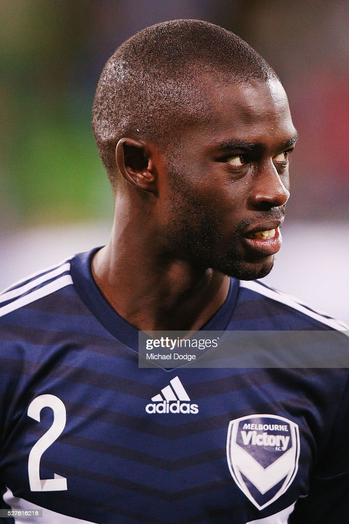 Jason Geria of the Victory looks on during the AFC Champions League match between Melbourne Victory and Gamba Osaka at AAMI Park on May 3, 2016 in Melbourne, Australia.
