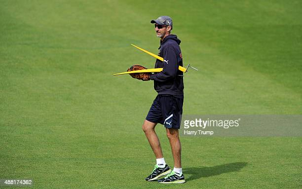 Jason Gillespie Head Coach of Yorkshire during the LV County Championship match between Hampshire and Yorkshire at Ageas Bowl on September 14 2015 in...
