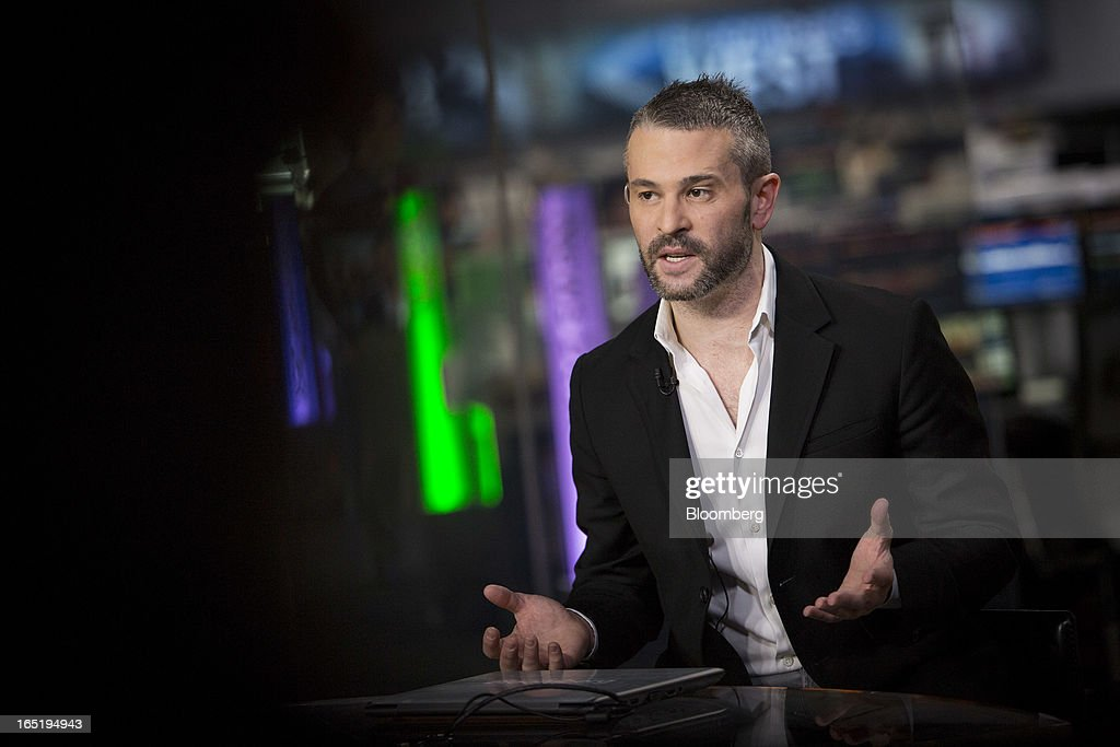 Jason Goldberg, chief executive officer of Fab.com, speaks during an interview in New York, U.S., on Monday, April 1, 2013. While it's tempting to dismiss some of the items for sale on the shopping site as hipster indulgences, New York-based Fab.com is as close as it gets to a hot new e-commerce property. Photographer: Scott Eells/Bloomberg via Getty Images
