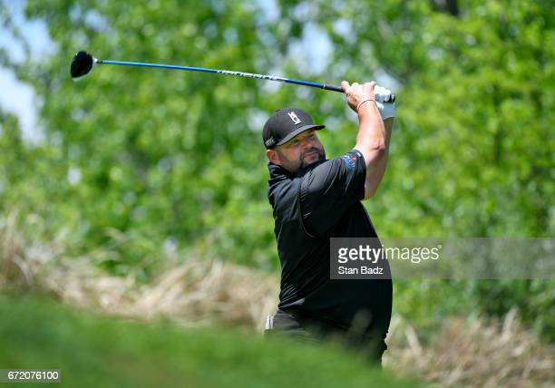 Jason Gore hits a drive onthe second hole during the final round of the Webcom Tour United Leasing Finance Championship at Victoria National Golf...