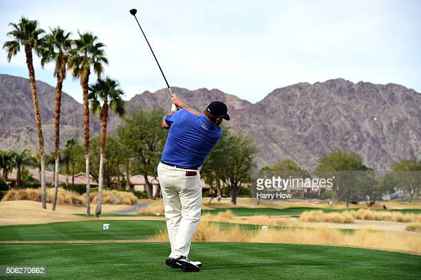 Jason Gore plays his tee shot on the 18th hole during the second round of the CareerBuilder Challenge In Partnership With The Clinton Foundation on...