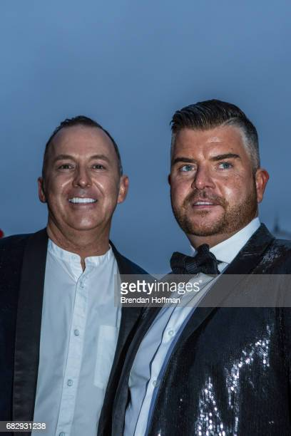Jason Gray O'Connor and Noel O'Connor from Brighton UK pose for a portrait at the Eurovision Grand Final on May 13 2017 in Kiev Ukraine Ukraine is...