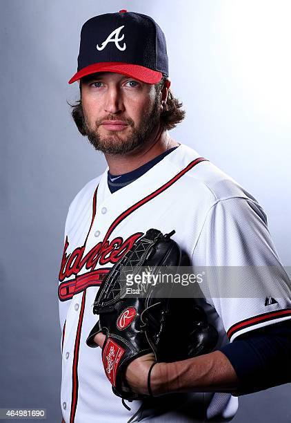 Jason Grilli of the Atlanta Braves poses for a portrait on March 2 2015 at Champion Stadium in Lake Buena Vista Florida