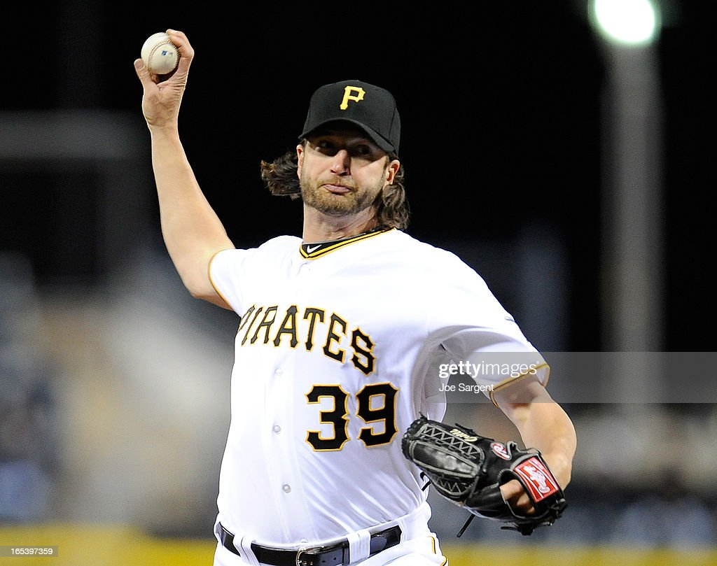 <a gi-track='captionPersonalityLinkClicked' href=/galleries/search?phrase=Jason+Grilli&family=editorial&specificpeople=615724 ng-click='$event.stopPropagation()'>Jason Grilli</a> #39 of the Pittsburgh Pirates delivers a pitch in the ninth inning against the Chicago Cubs on April 3, 2013 at PNC Park in Pittsburgh, Pennsylvania. Pittsburgh won the game 3-0.