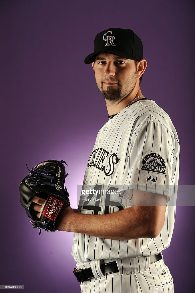 Jason Hammel #46 of the Colorado Rockies poses for a portrait during photo day at the Salt River Fields at Talking Stick on February 24, 2011 in Scottsdale, Arizona.