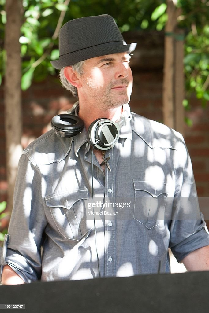 MC Jason Henson plays music at Posing Heroes, 'A Dog Day Afternoon' Benefiting A Wish For Animals on March 30, 2013 in Los Angeles, California.