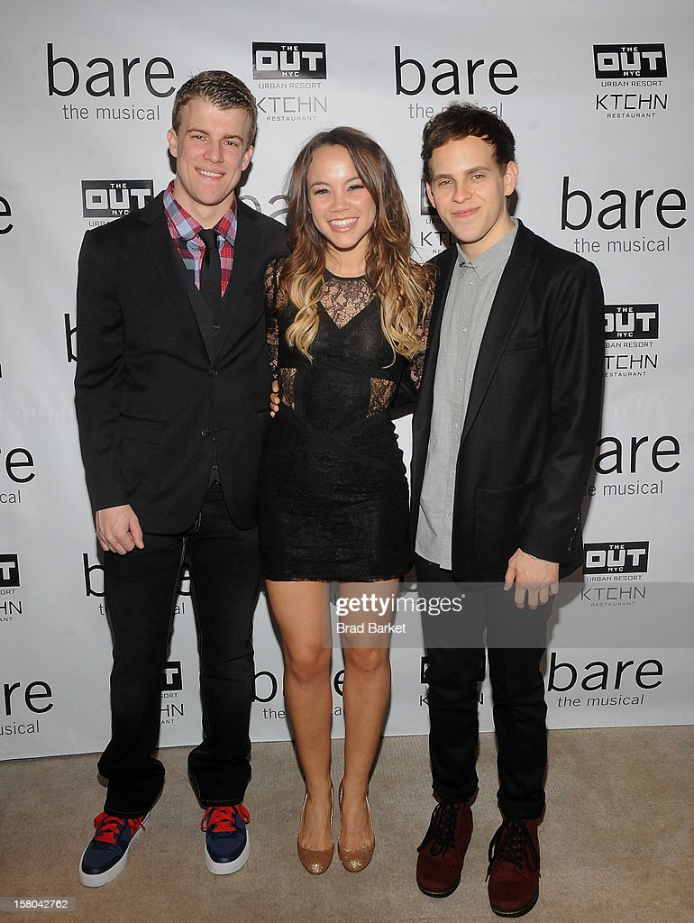 Jason Hite, Elizabeth Judd and Taylor Trensch attends 'BARE The Musical' Opening Night After Party at Out Hotel on December 9, 2012 in New York City.