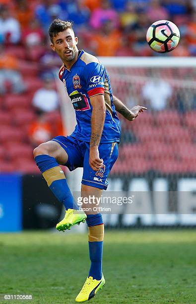 Jason Hoffman during the round 14 ALeague match between the Brisbane Roar and the Newcastle Jets at Suncorp Stadium on January 7 2017 in Brisbane...