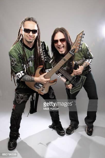 Jason Hook and Zoltan Bathory of Five Finger Death Punch Download Festival Donington United Kingdom 12th June 2010
