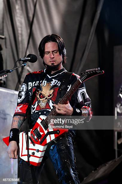 Jason Hook from Five Finger Death Punch performs during the 'Louder Than Life' Music Festival in Champions Park on October 05 2014 in Louisville...