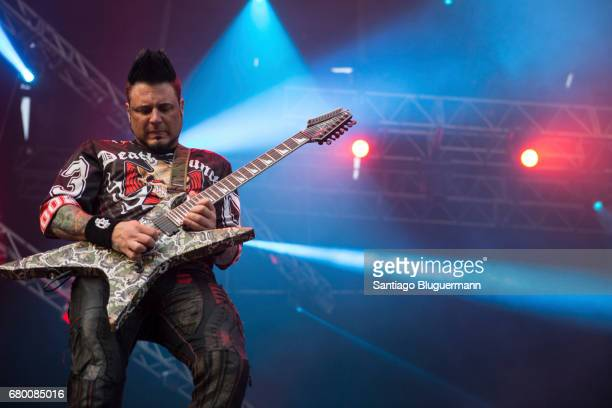 Jason Hook of Five Finger Death Punch performs as part of Maximus Music Festival at Tecnopolis on May 06 2017 in Buenos Aires Argentina