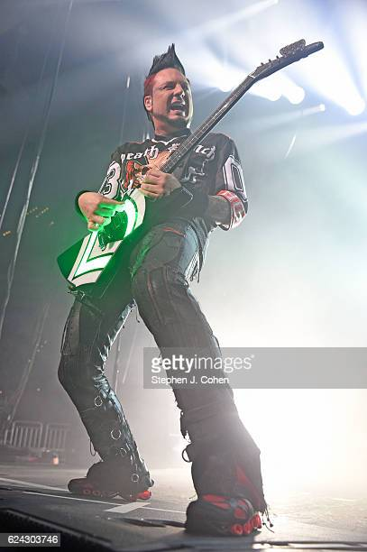 Jason Hook of Five Finger Death Punch performs at KFC YUM Center on November 18 2016 in Louisville Kentucky