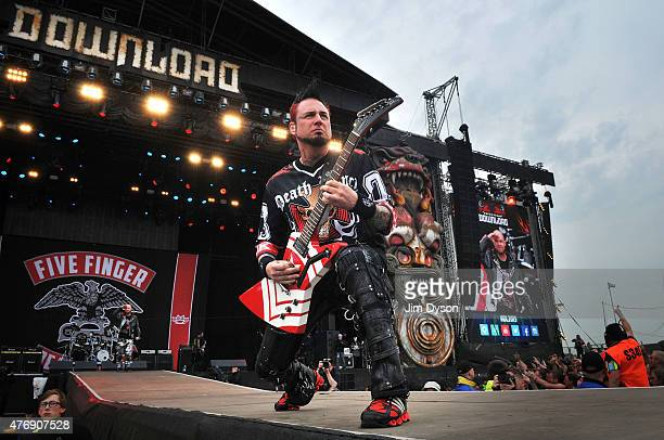 Jason Hook of Five Finger Death Punch performs live on stage during Day 1 of the Download Festival at Donington Park on June 12 2015 in Castle...