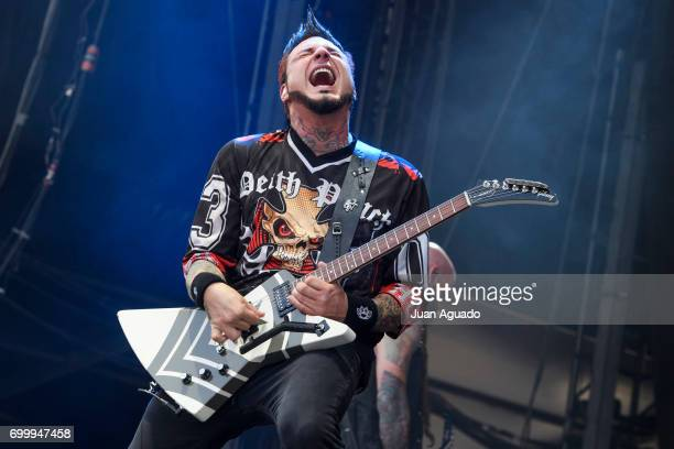 Jason Hook of Five Finger Death Punch performs on stage at the Download Festival on June 22 2017 in Madrid Spain