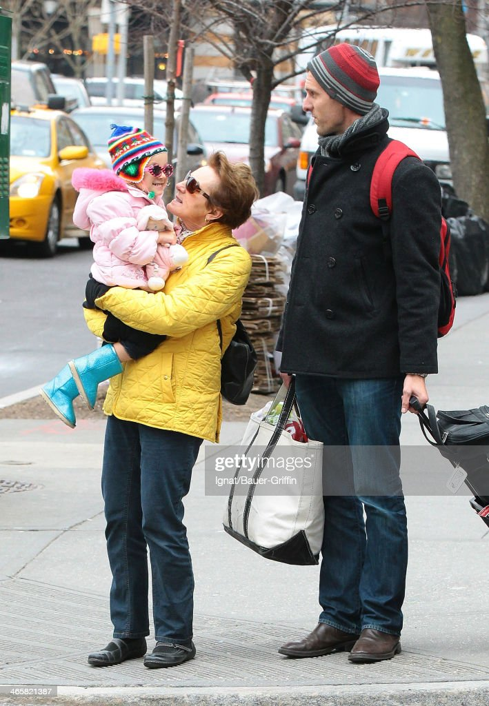 Jason Hoppy is seen with his daughter Bryn Hoppy on March 15 2013 in New York City