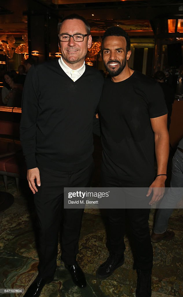 Jason Iley, CEO Of Sony Music UK, and Craig David attend the Sony Music UK Summer Party at Sexy Fish on July 13, 2016 in London, England.