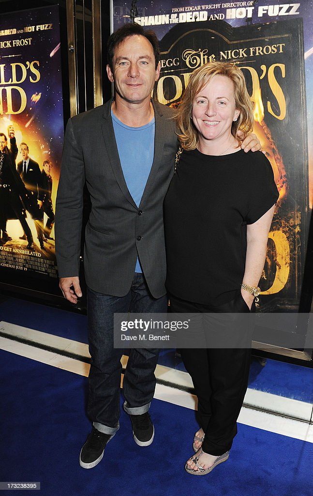 Jason Isaacs and Debra Hayward attend the World Premiere of 'The World's End' at Empire Leicester Square on July 10, 2013 in London, England.