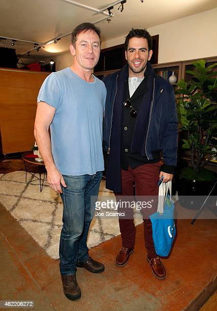 Jason Isaacs and Eli Roth attend The Variety Studio At Sundance Presented By Dockers on January 25 2015 in Park City Utah
