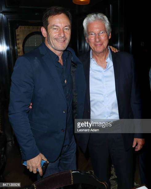 Jason Isaacs and Richard Gere attends the 'Three Christs' premiere party hosted by Johnnie Walker at Westlodge Toronto on September 14 2017 in...