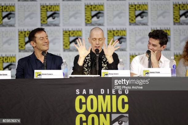 Jason Isaacs Doug Jones James Frain during the 'Star Trek Discovery' panel at ComicCon 2017 held in San Diego Ca