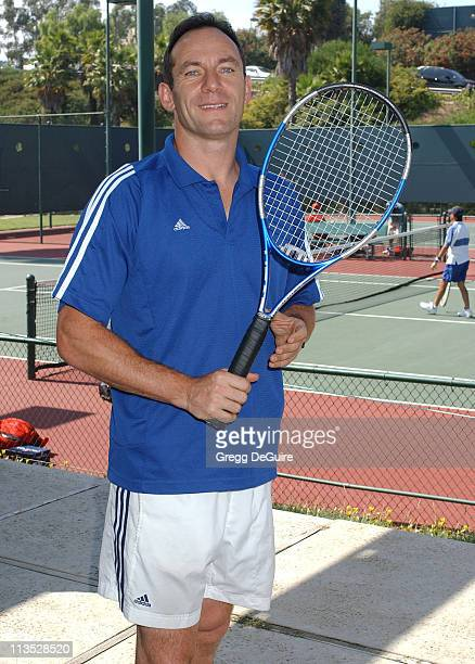 Jason Isaacs during Racquet Rumble 2004 Celebrity Tennis Tournament at Riviera Tennis Club in Pacific Palisades California United States