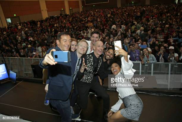 Jason Isaacs Mary Wiseman Anthony Rapp James Frain Doug Jones Shazad Latif Sonequa MartinGreen during the 'Star Trek Discovery' panel at ComicCon...