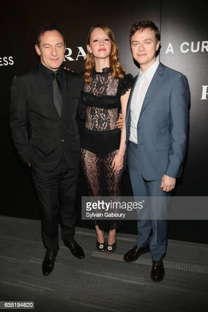 Jason Isaacs Mia Goth and Dane Dehaan attend 20th Century Fox and Prada Host a Screening of 'A Cure for Wellness' on February 13 2017 in New York City