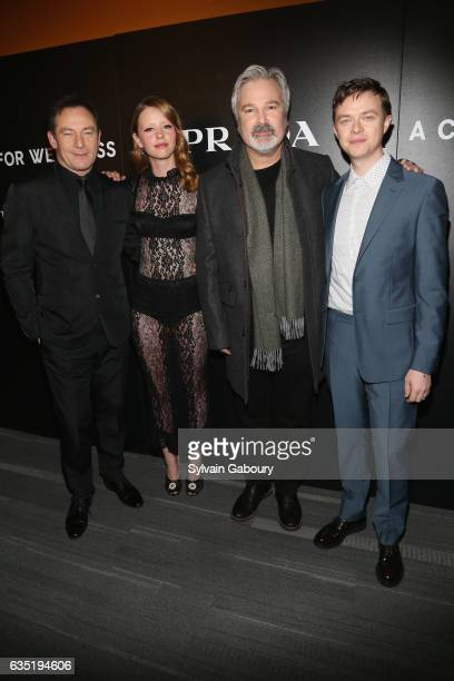 Jason Isaacs Mia Goth Gore Verbinski and Dane Dehaan attend 20th Century Fox and Prada Host a Screening of 'A Cure for Wellness' on February 13 2017...