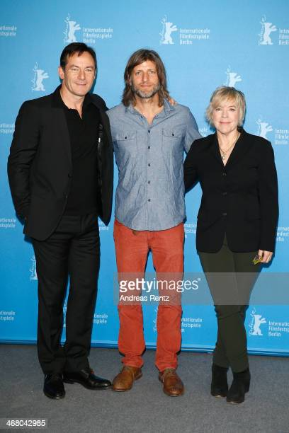 Jason Isaacs Saar Klein and Sarah Green attend 'Things People Do' photocall during 64th Berlinale International Film Festival at Grand Hyatt Hotel on...