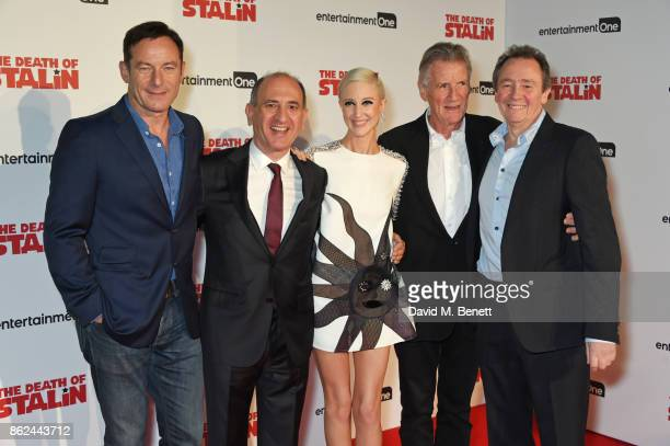 Jason Isaacs writer/director Armando Iannucci Andrea Riseborough Michael Palin and Paul Whitehouse attend the UK Premiere of 'The Death Of Stalin' at...