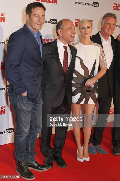 Jason Isaacs writer/director Armando Iannucci Andrea Riseborough and Michael Palin attend the UK Premiere of 'The Death Of Stalin' at The Curzon...