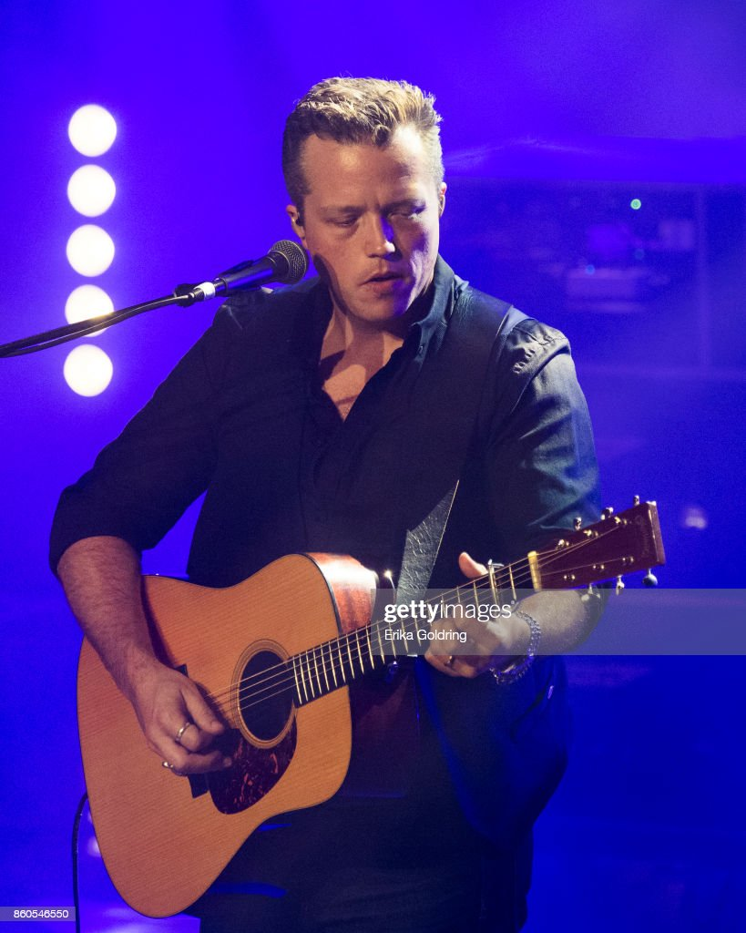 Jason Isbell performs at Ryman Auditorium on October 11, 2017 in Nashville, Tennessee.