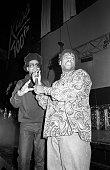 Jason 'Jam Master Jay' Mizell and Darryl 'DMC' McDaniels of Run DMC perform on stage in London United Kingdom 1990